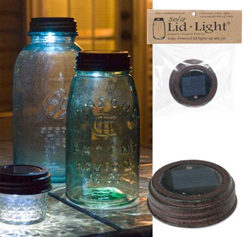 Solar Lid Light - textured brown
