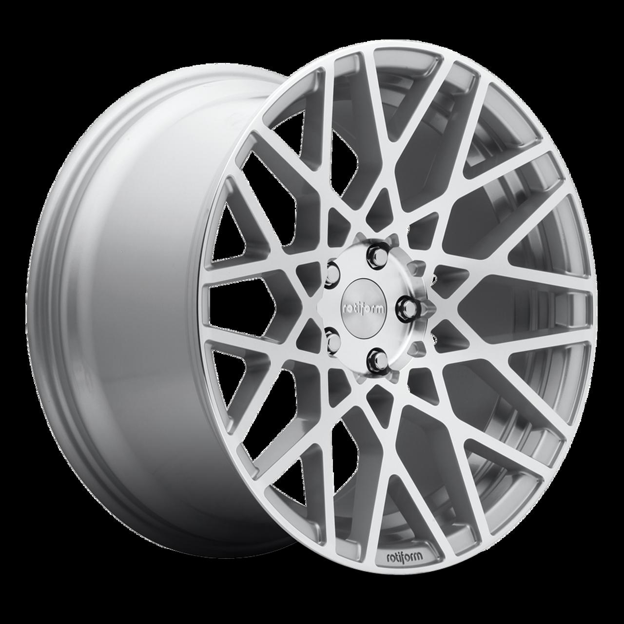 Rotiform BLQ 5x112 - Gloss Silver Machined