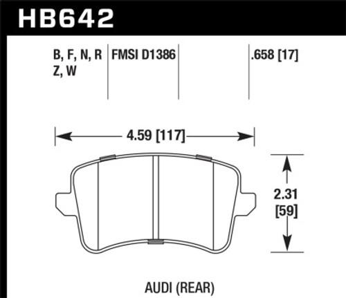 Hawk HPS 5.0 Rear Brake Pads for Audi B8