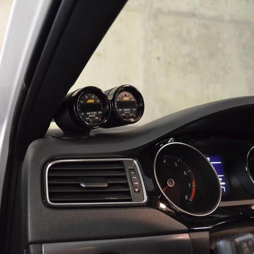 CJM Industries Dual Gauge Pod for MK6 Jetta, GLI & A5 Beetle w/ Soft Touch Dash