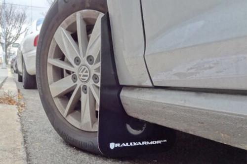 Rally Armor UR Black w/ Silver logo Mud Flaps for MK7 & MK7.5