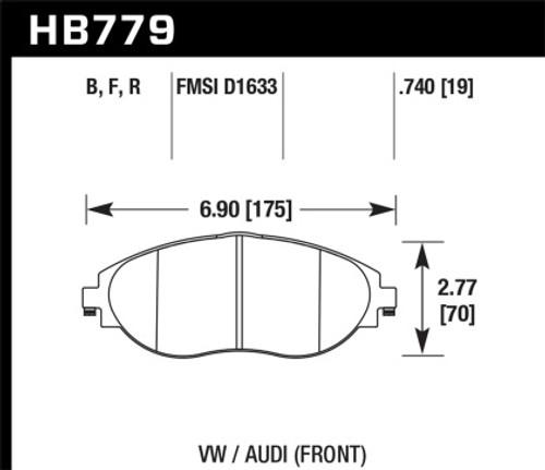 Hawk HPS Front Brake Pads (fits 340mm rotors)
