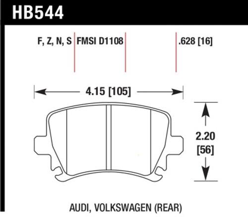 Hawk HPS Rear Brake Pads (Performance Package)