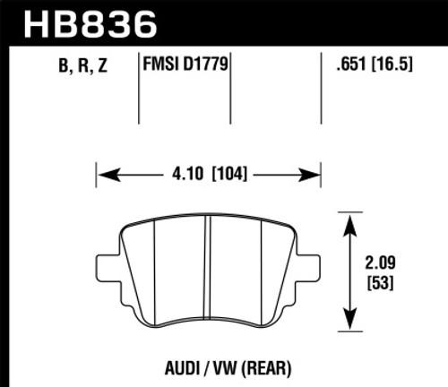 Hawk HPS 5.0 Rear Brake Pads (fits 272mm rotors)