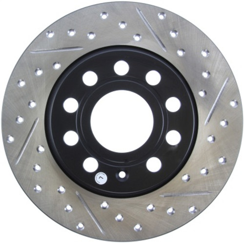 Stoptech Drilled & Slotted Sport Rear Brake Rotors 272x10 (Pair)