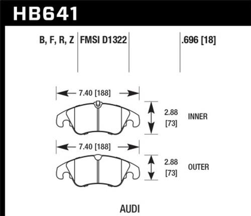 Hawk HPS Front Brake Pads for Audi B8