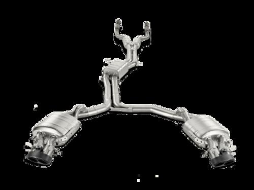 Akrapovic Evolution Line Titanium Catback Exhaust w/ Carbon Tips  for Audi C7 RS7