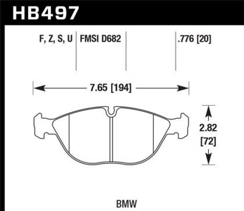 Hawk HPS 5.0 Front Brake Pads for MK4 R32 / TT