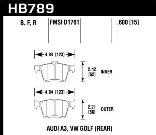 Hawk HPS 5.0 Rear Brake Pads (w/ electronic ebrake)