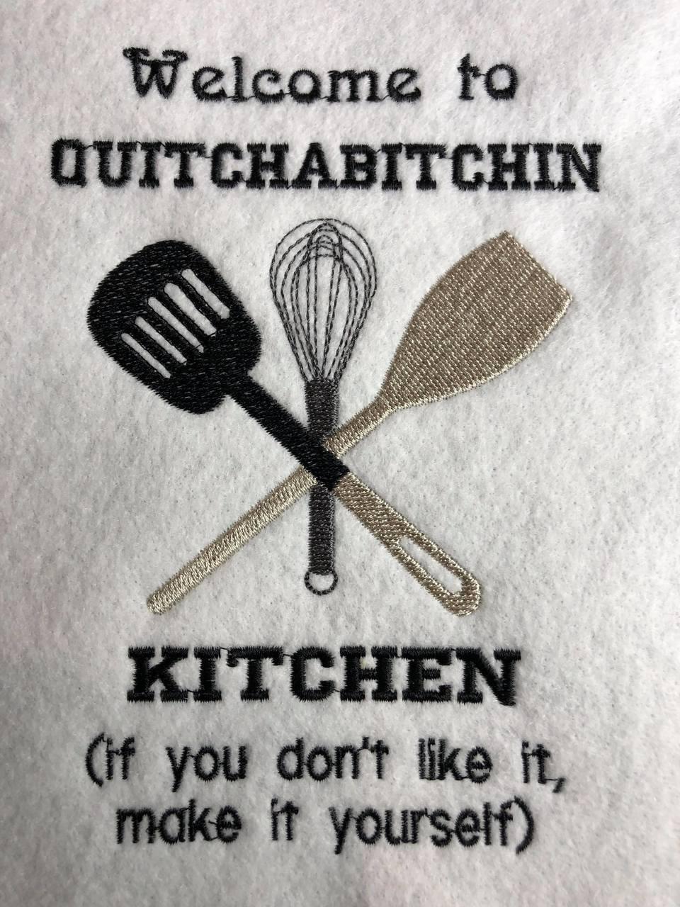 Quitcha Kitchen Embroidery / SVG Design ***DIGITAL DOWNLOAD***
