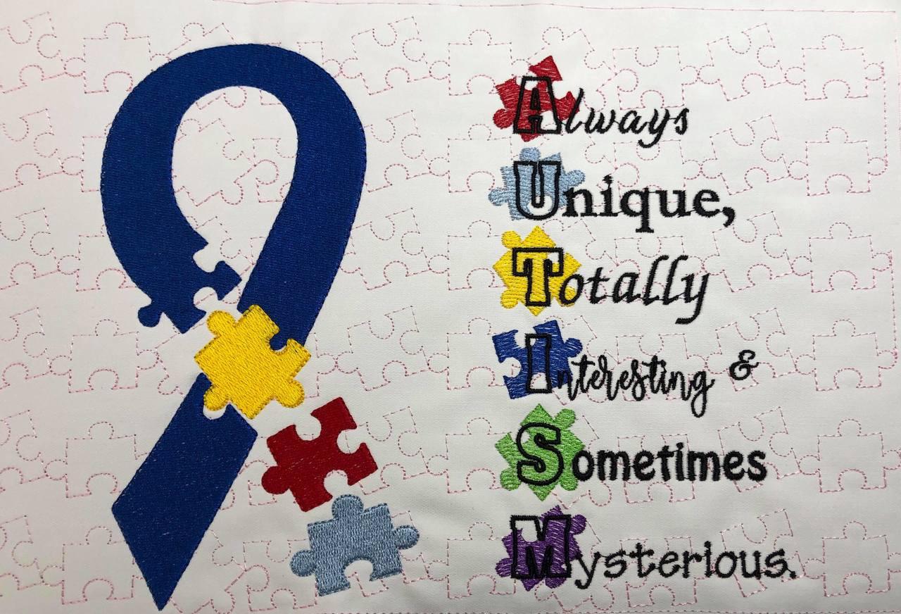 Autism Awareness SVG / Embroidery Design ***DIGITAL DOWNLOAD***