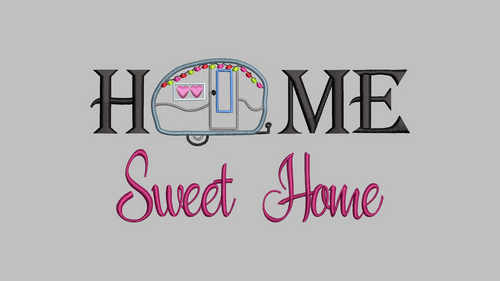 Home sweet home camping embroidery design digital download