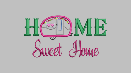 Home Sweet Home Camping Applique Embroidery Design Dodare2bdifferent