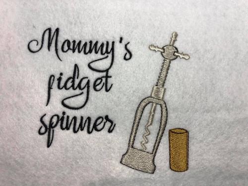 Mommy's Fidget Spinner Embroidery / SVG Design ***DIGITAL DOWNLOAD***