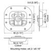 Small Recessed Twist Latch - Zinc