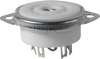 Ceramic - 9 Pin Mini Tube Socket (solder)