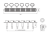 K-Style Tuners 6L - Bean Technical Drawing