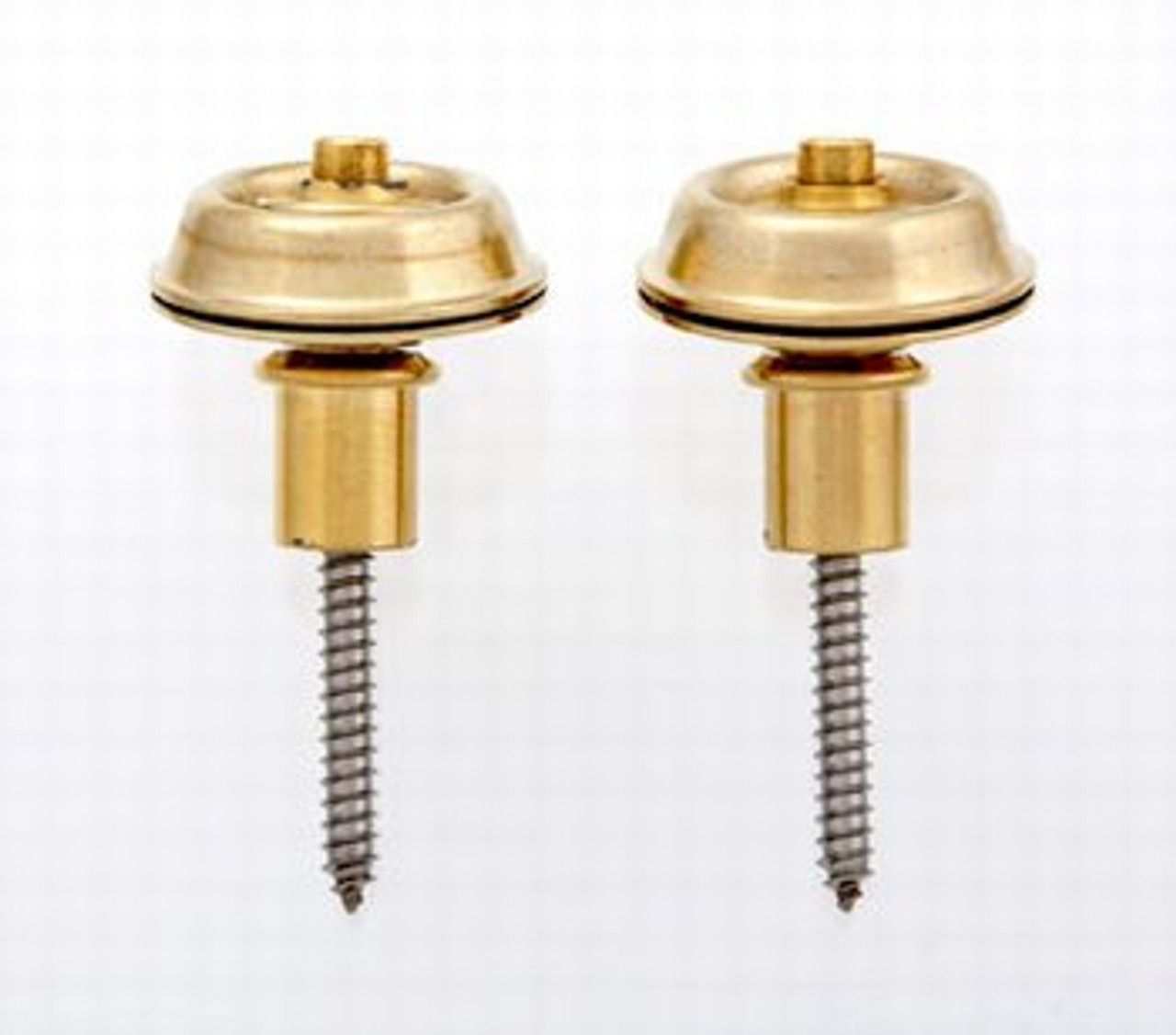Dunlop Flush Mount Strap Locks - Gold (pair)