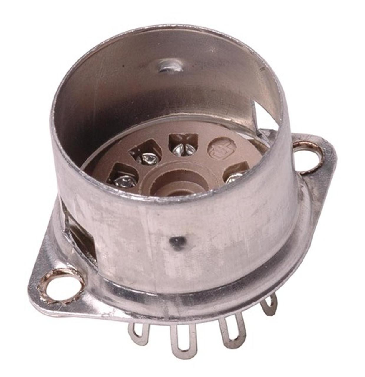 Belton - 9 Pin Mini Tube Socket With Shield Base (solder)