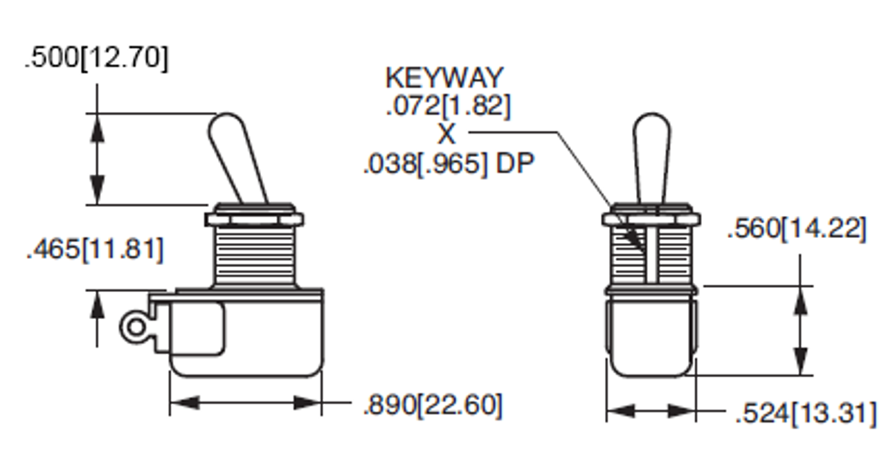 Toggle  Switch - SPST Fender Style