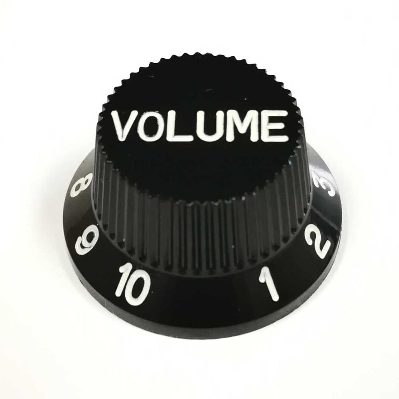 Strat Knob Volume - 18-spline Black
