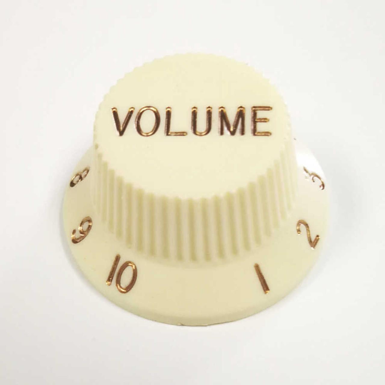 Strat Knob Volume - 24-spline Cream