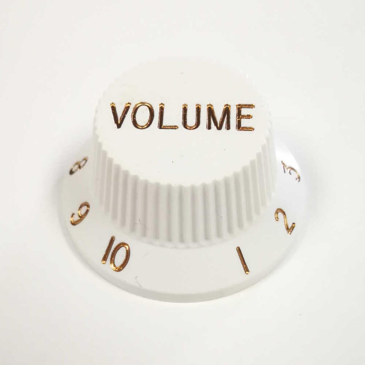 Strat Knob Volume - 24-spline White