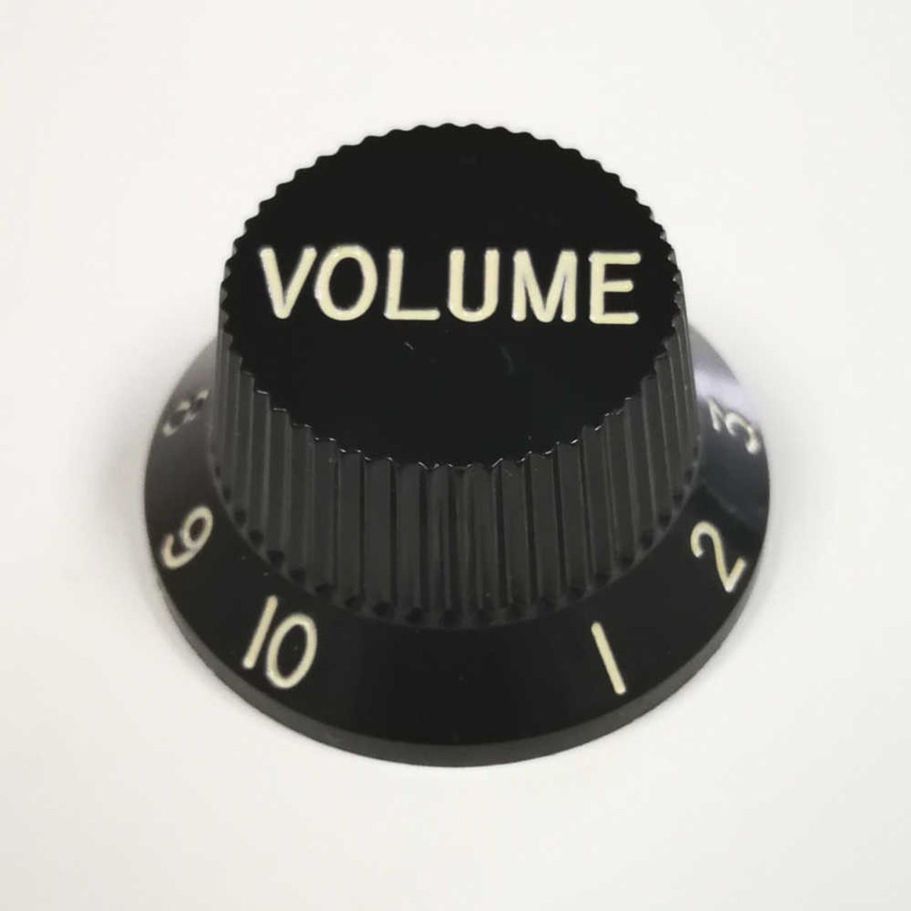 Strat Knob Volume - 24-spline Black