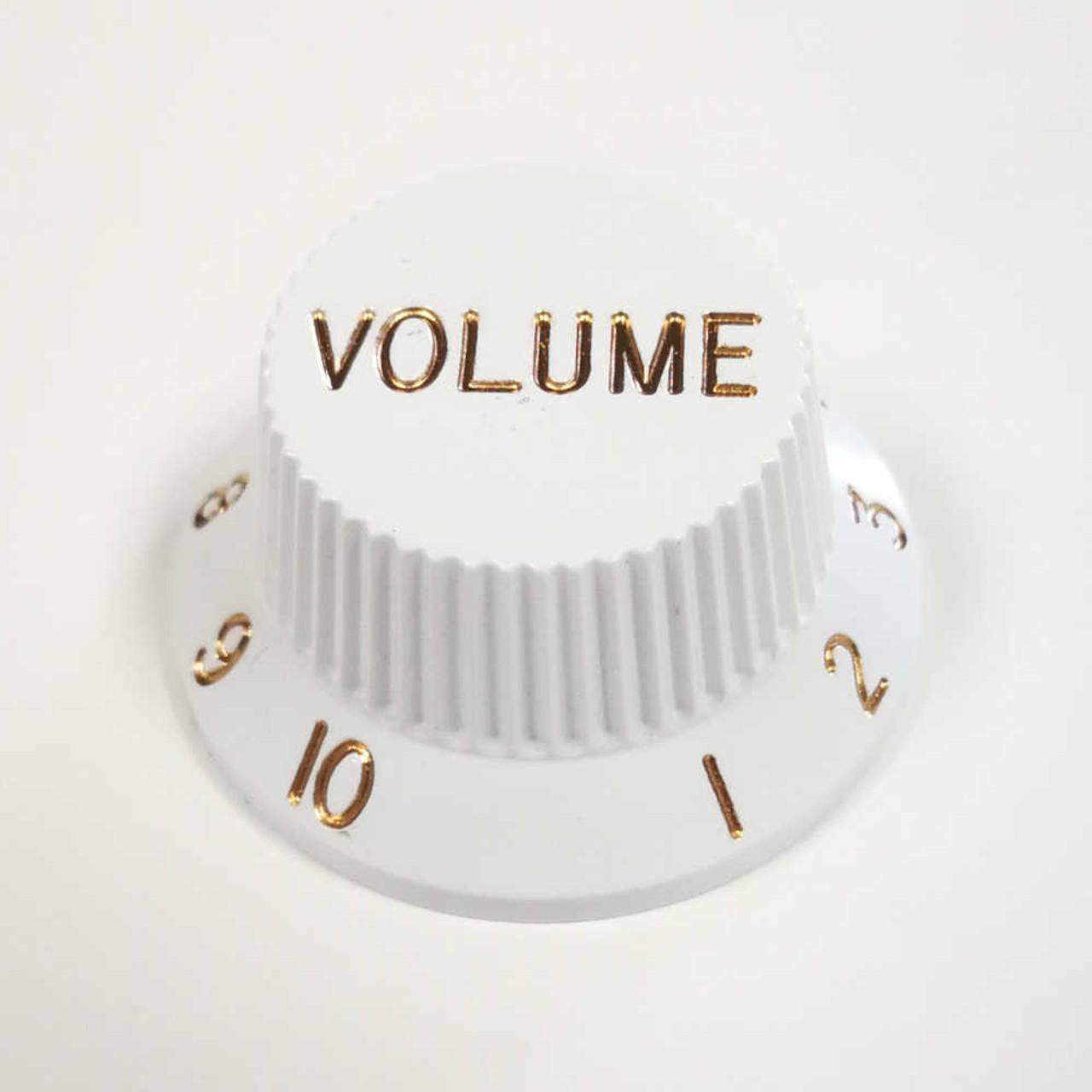Strat Knob Volume - 18-spline White