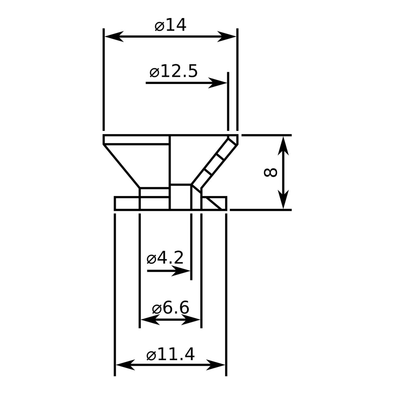 Standard Strap Buttons - Black (pair)