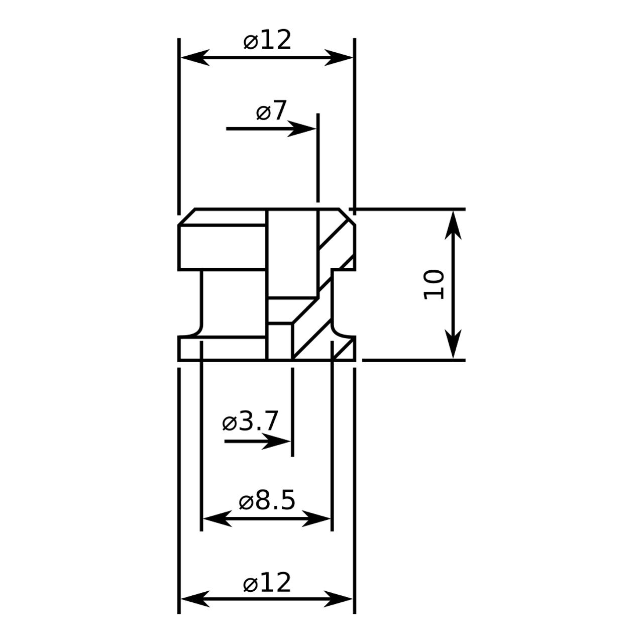 Schaller Style Strap Buttons - Black (pair)