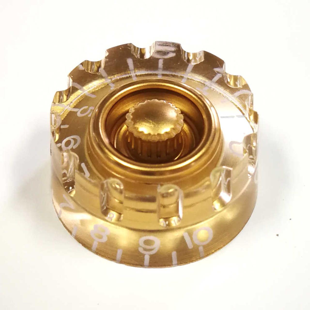 Knurled Speed Knob - 18-spline Gold