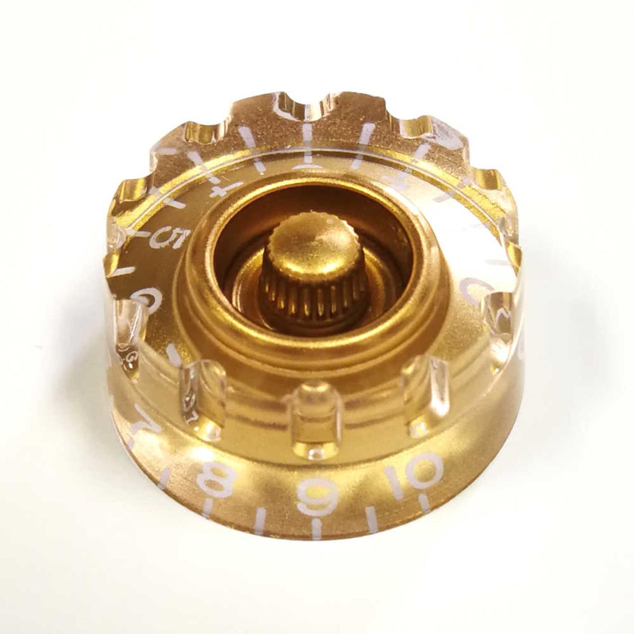 Knurled Speed Knob - 24-spline Gold