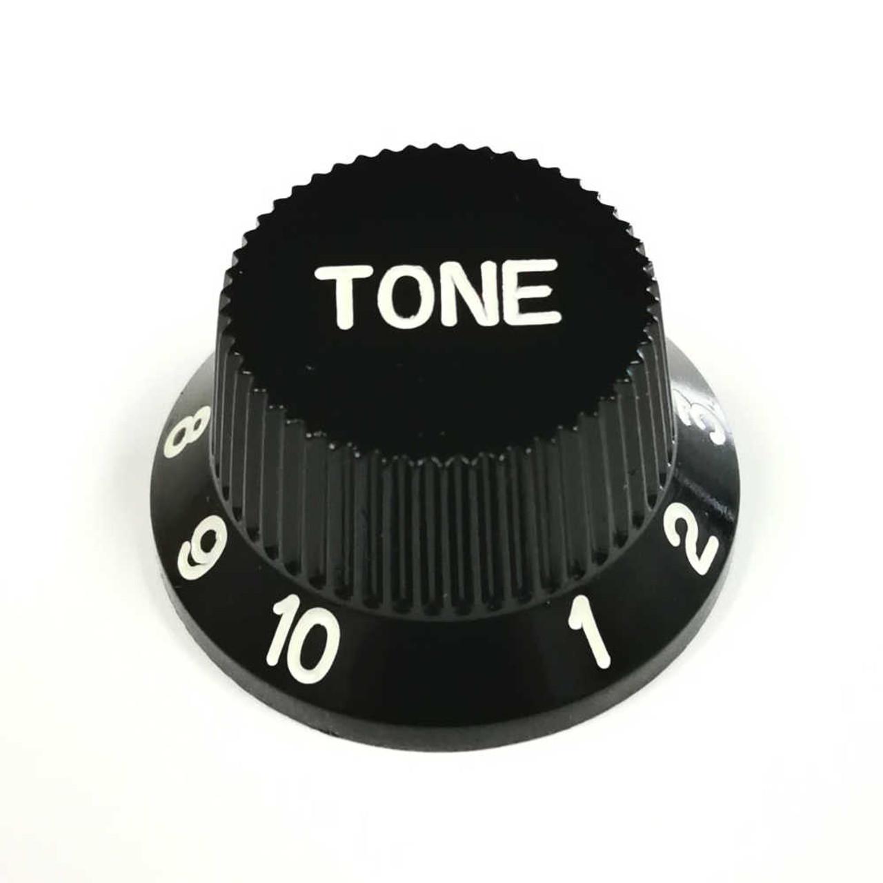 Strat Knob Tone - 24-spline Black