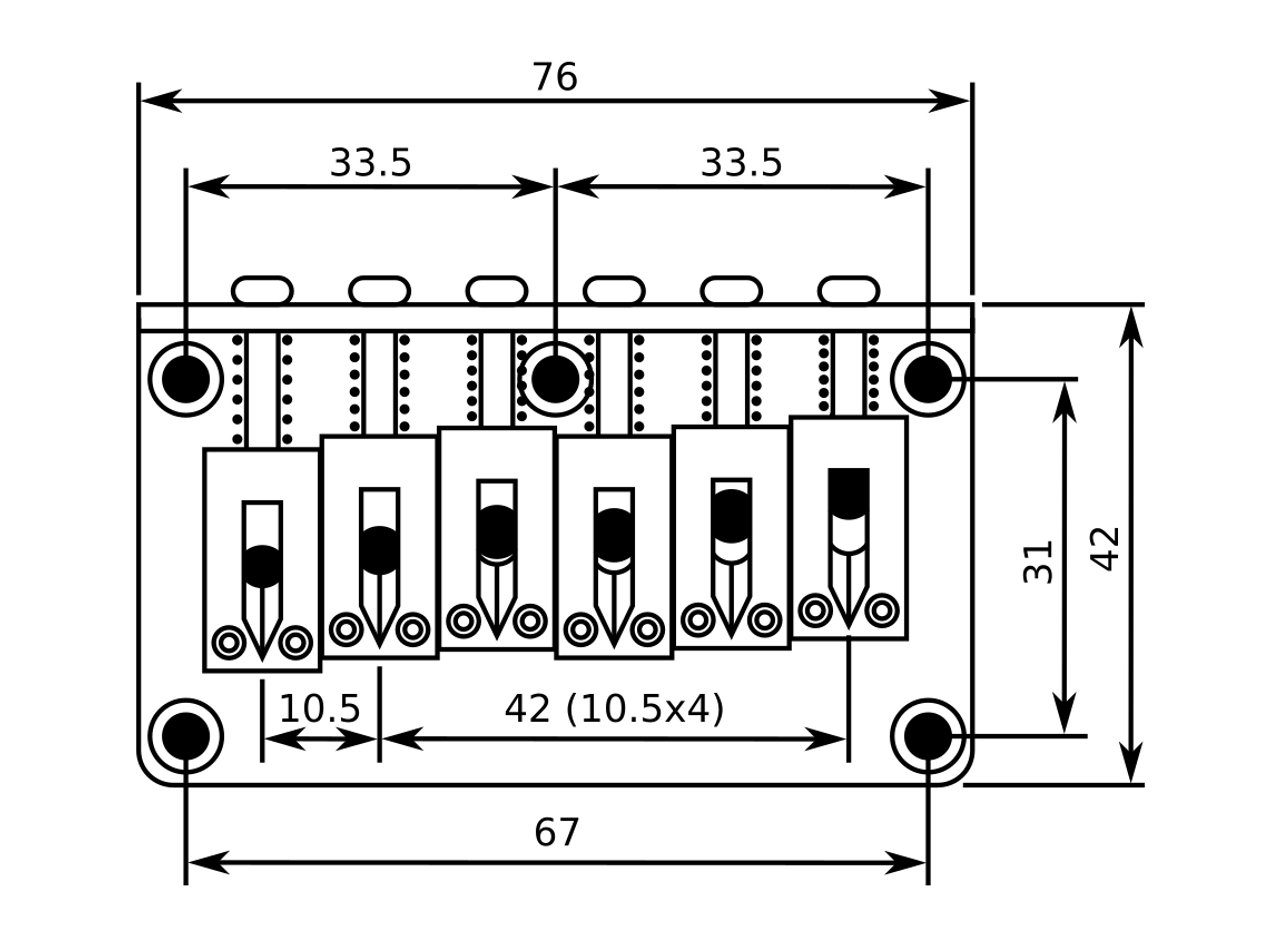 Classic Fixed Bridge 6-string - Black