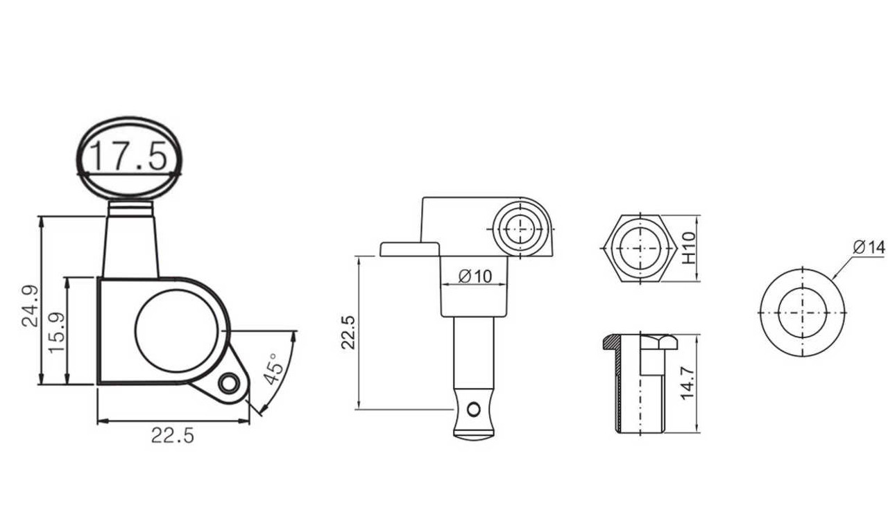 Standard Tuners - Bean Technical Drawing
