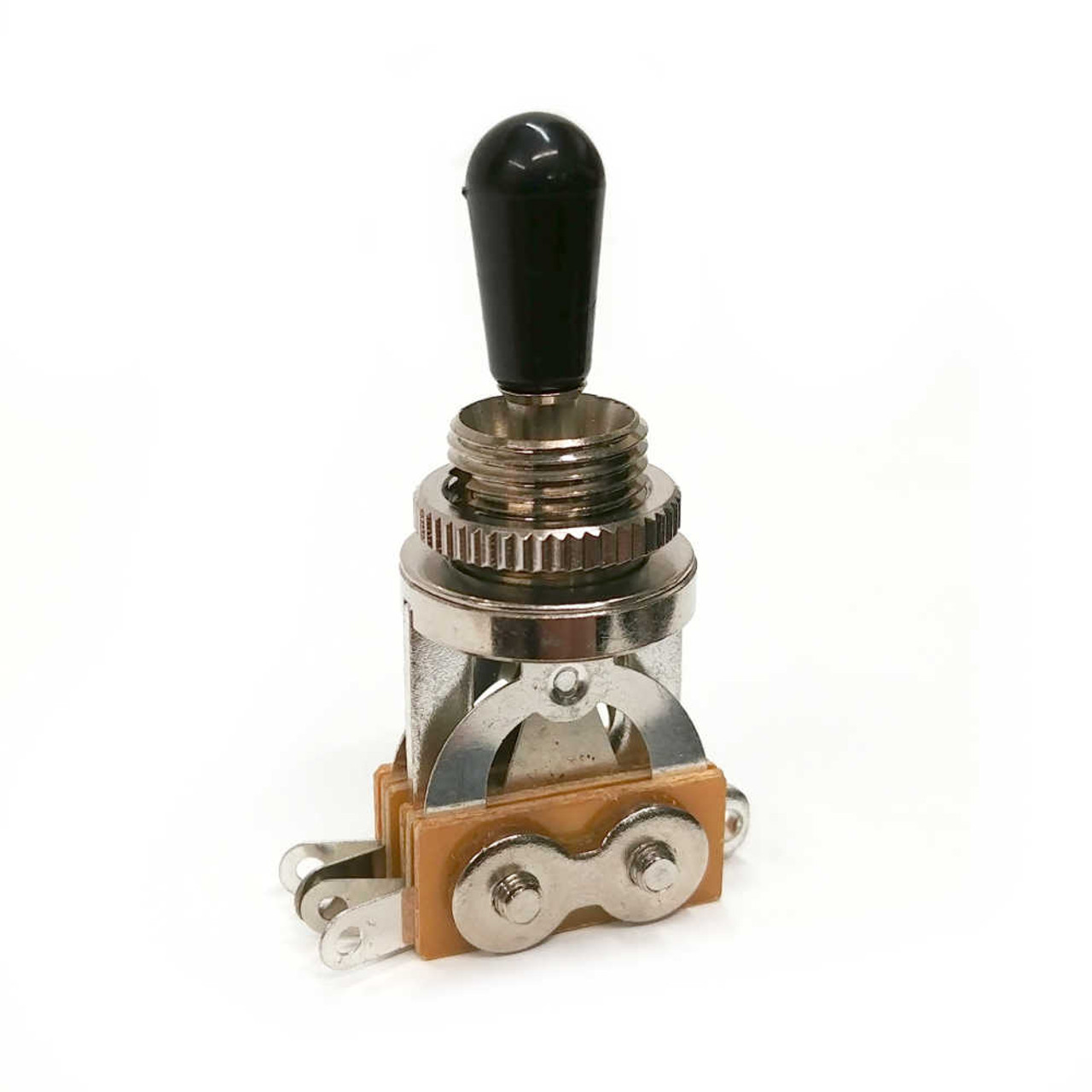 3-way Pickup Selector Switch - Nickel /w Black Tip