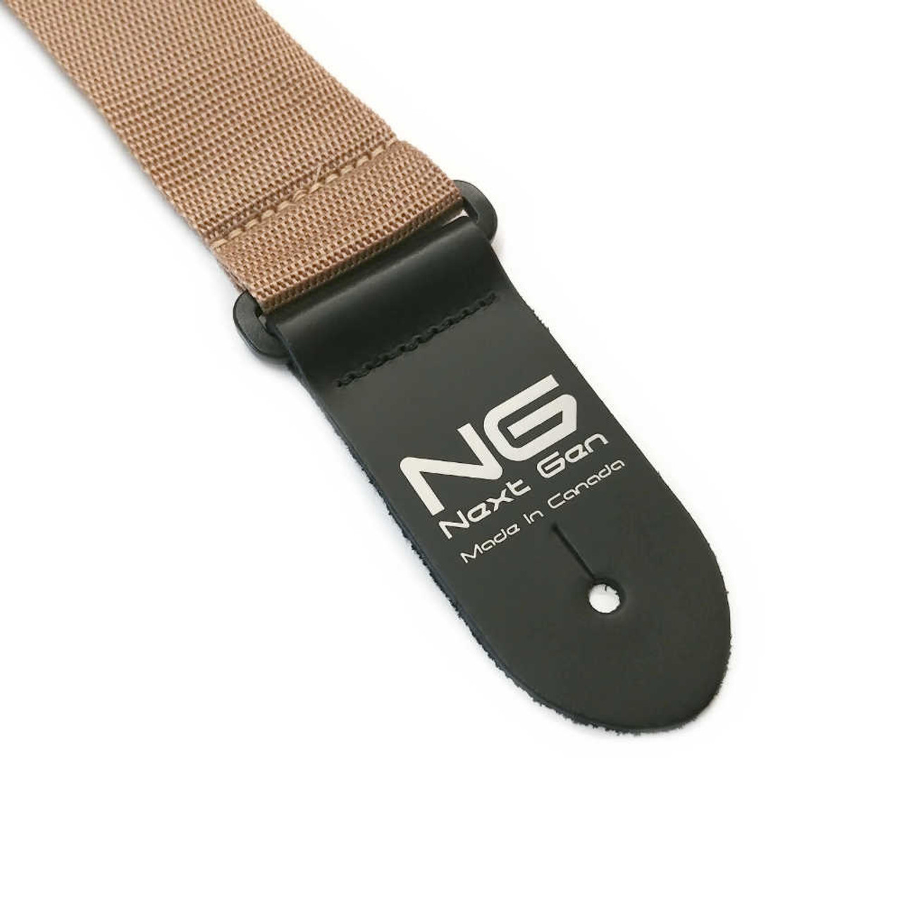 "2"" Poly Strap /w Leather Ends - Tan"