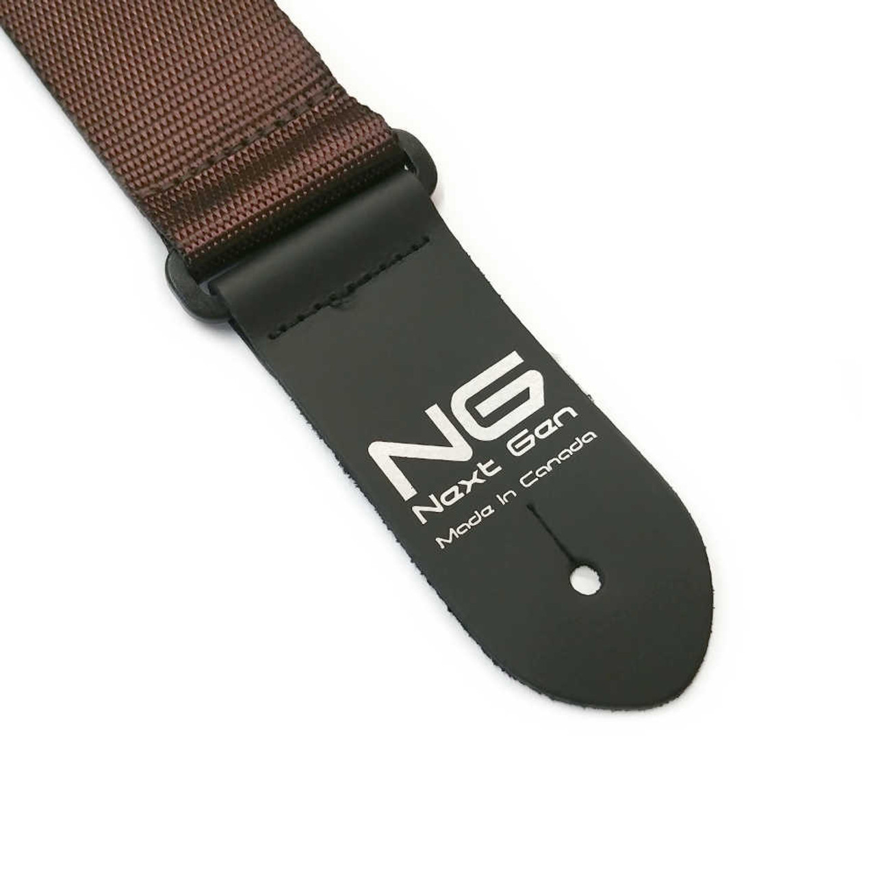 """2"""" Poly Strap /w Leather Ends - Brown"""