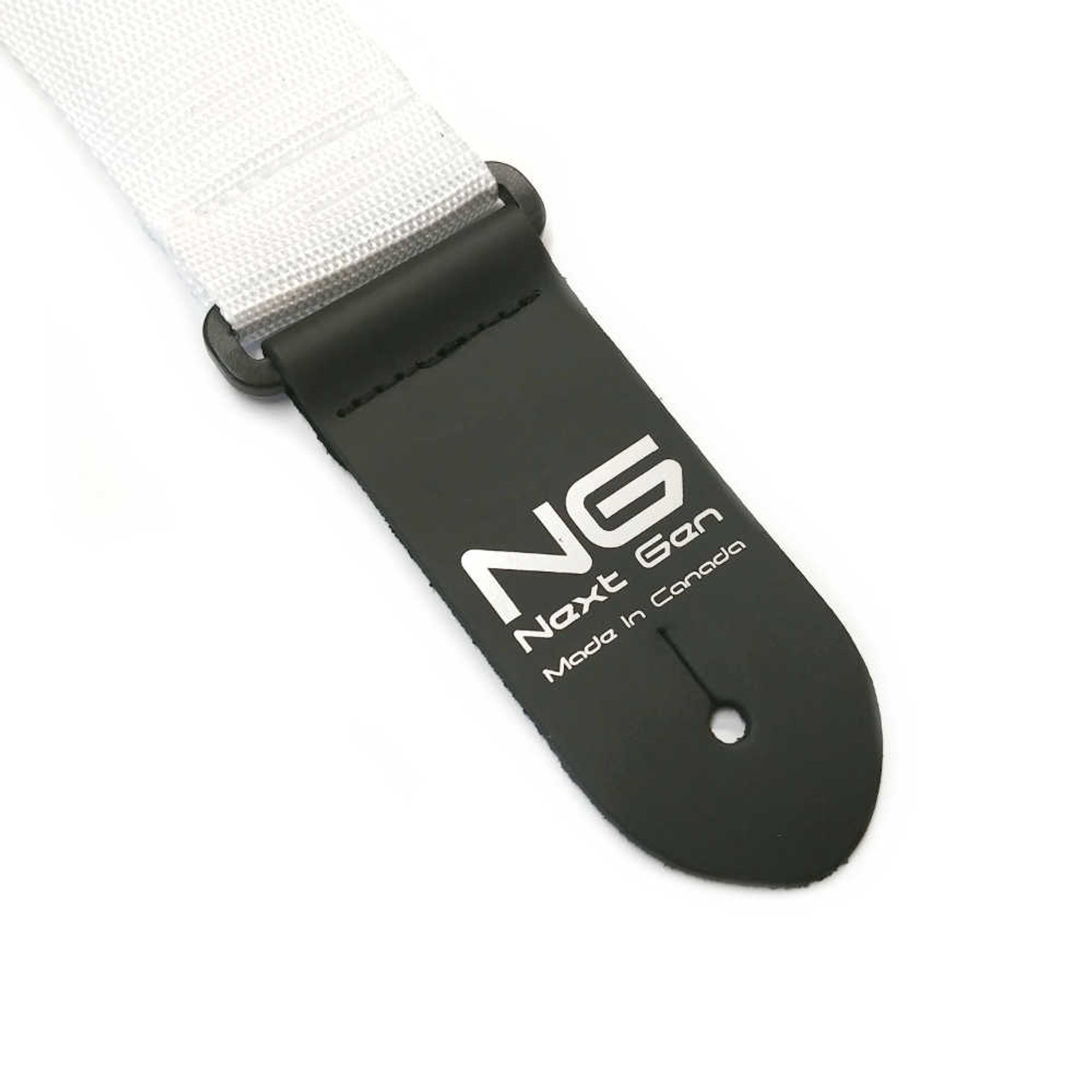 "2"" Poly Strap /w Leather Ends - White"