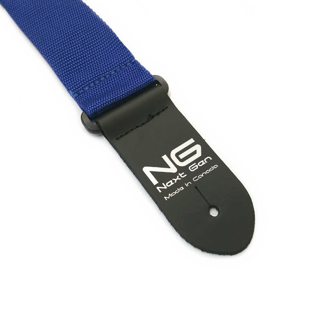 """2"""" Poly Strap /w Leather Ends - Blue"""