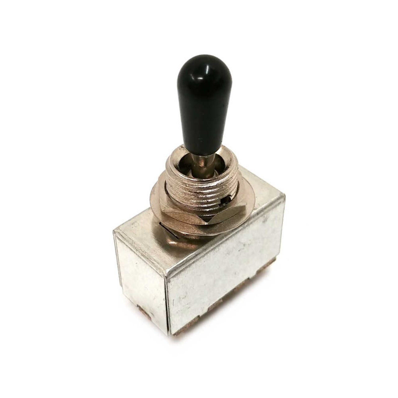3-way Sealed Pickup Selector Switch - Nickel /w Black Tip