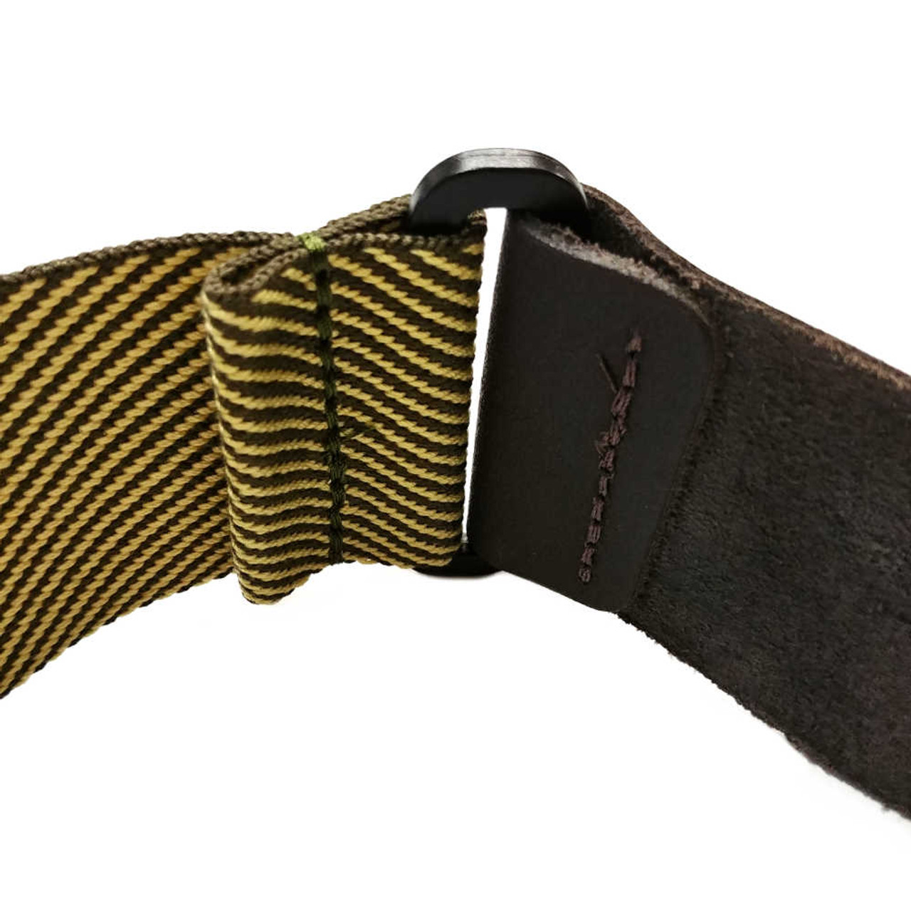 """2"""" Cotton Strap /w Leather Ends - Tweed"""