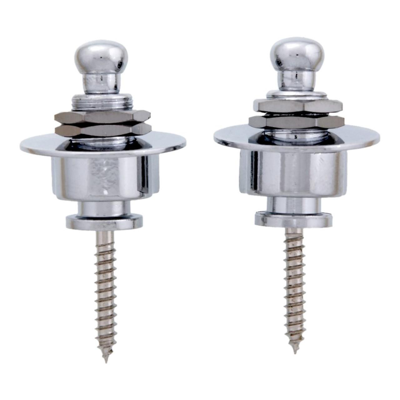 Schaller Style Strap Locks - Chrome (pair)