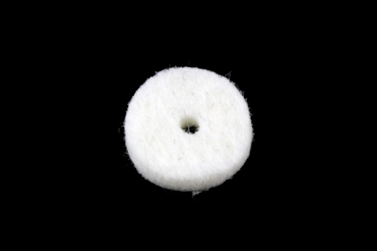 Felt Strap Washers - White (pair)