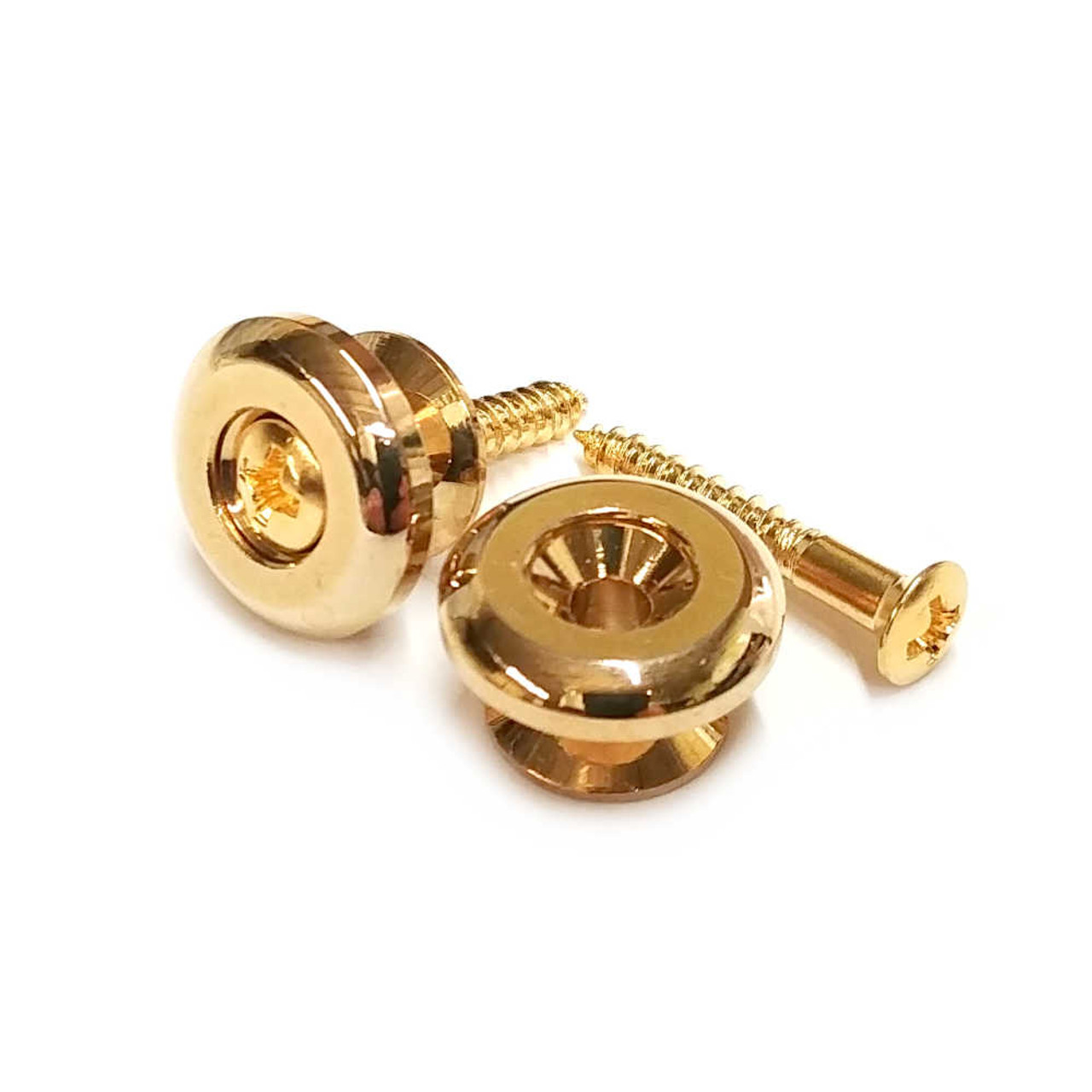 Oversized Strap Buttons - Gold (pair)