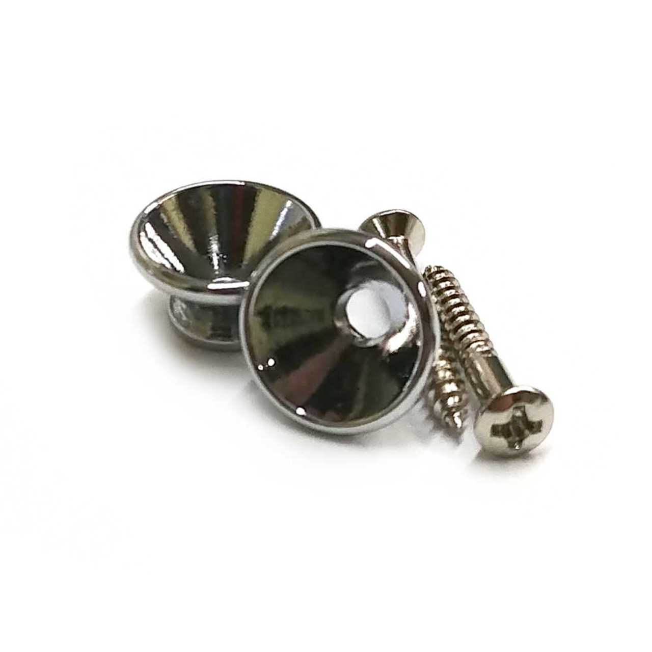 Large Strap Buttons - Chrome (pair)