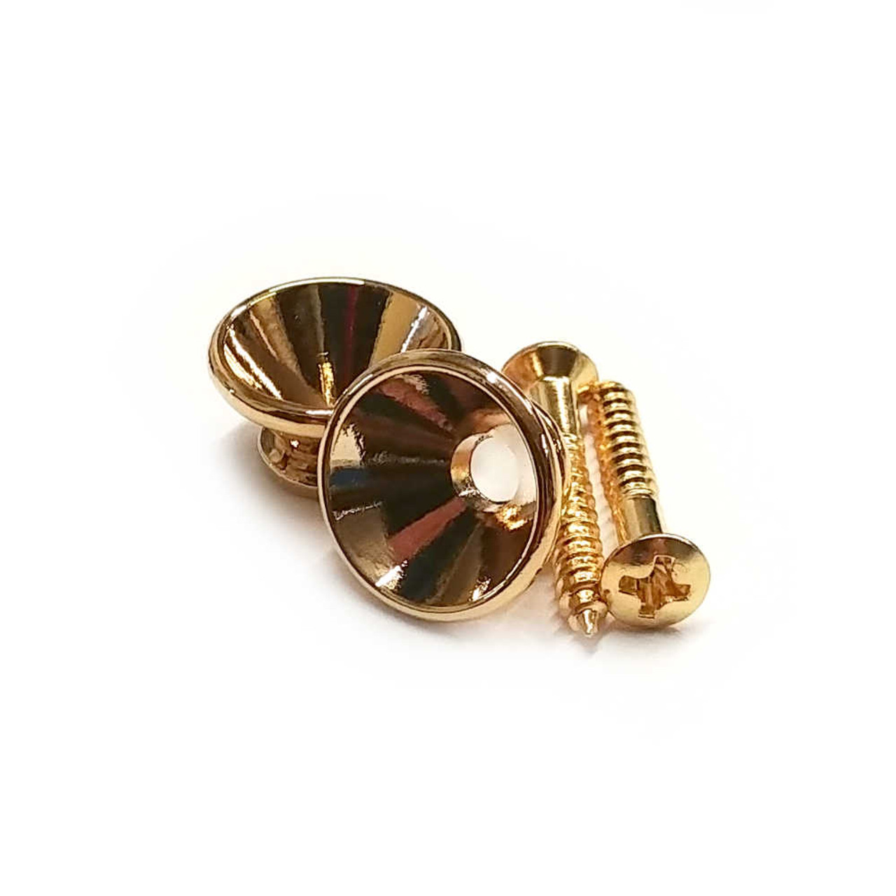 Large Strap Buttons - Gold (pair)