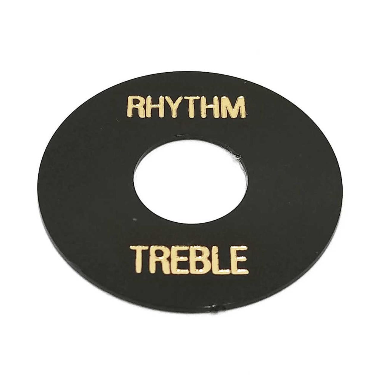 Rhythm/Treble Ring - Black /w Gold Letters