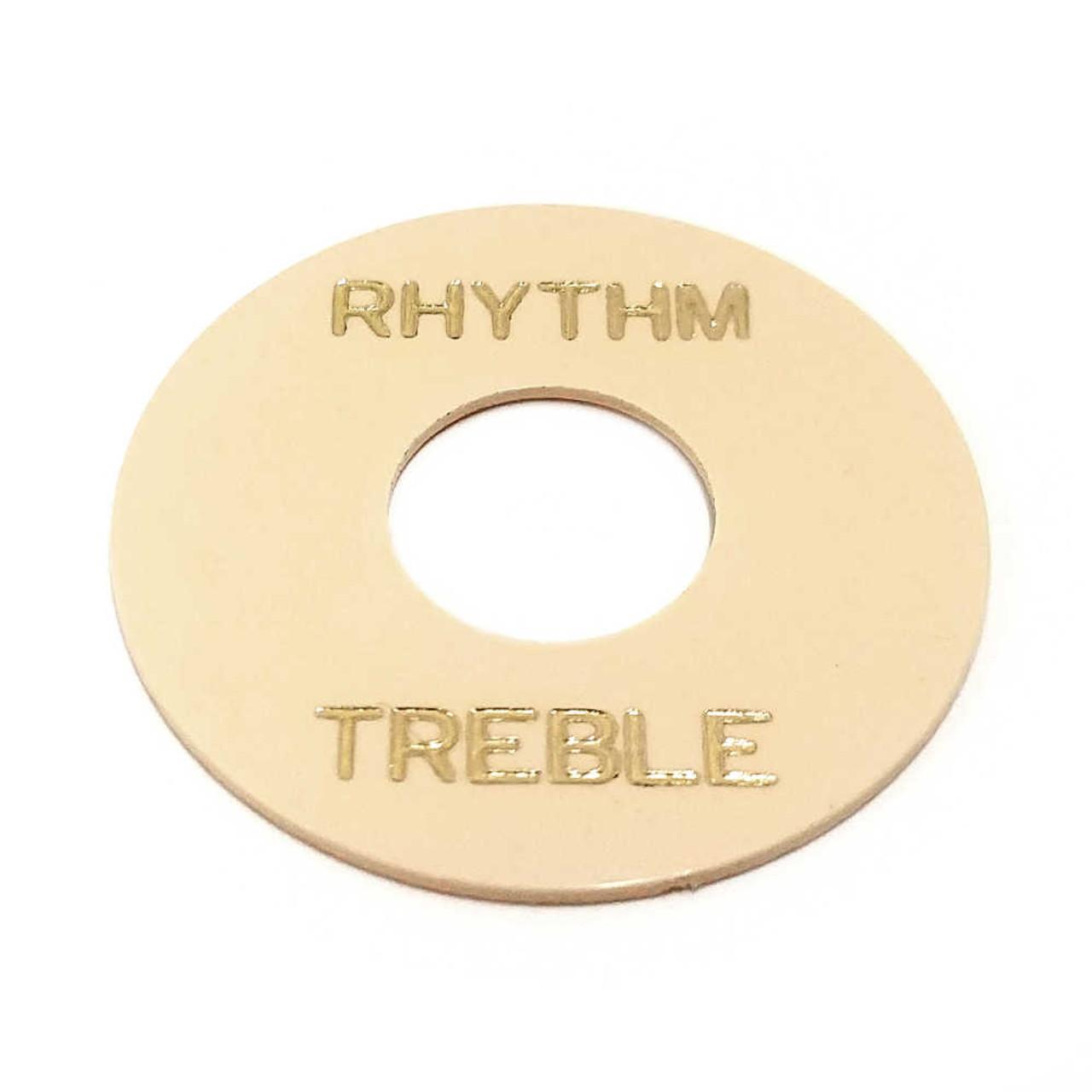 Rhythm/Treble Ring - Cream /w Gold Letters